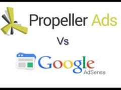 Comparison of Propeller Ads with Google AdSense 1
