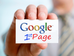 How long does the blog on the first page of Google